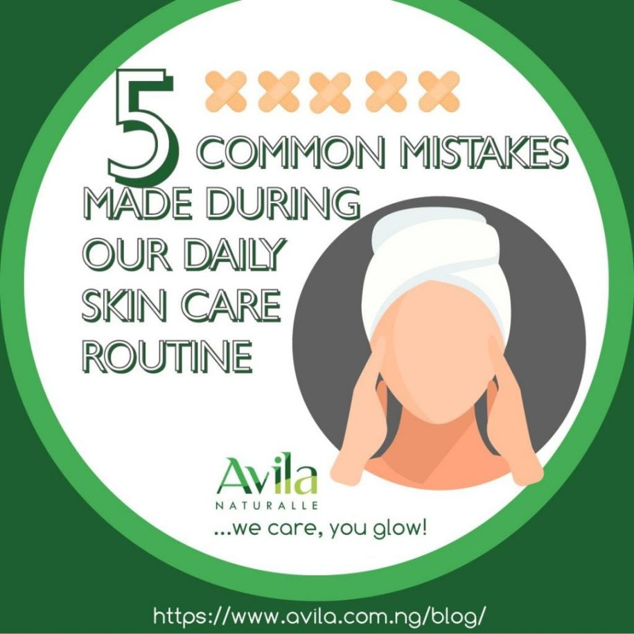 Five common mistakes made during our daily skin care routine