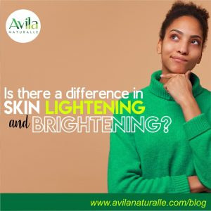 Is there a difference in skin lightening and brightening